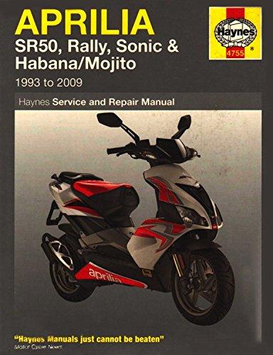 Download Aprilia SR50, Rally, Sonic, Habana & Mojito Scooters, '93-'09 (Haynes Powersport) pdf