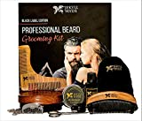 Professional Beard Grooming Kit For Men - Hand Made - Organic - Scissors - Beard Oil Leave In Conditioner - Beard Balm Wax - Beard Combs - Beard Brush - Oil For Styling and Growth