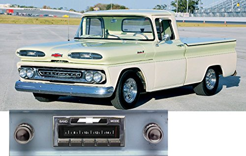 1961 Chevrolet Truck (1960-1963 Chevy Truck USA-630 II High Power 300 watt AM FM Car Stereo/Radio with iPod Docking Cable)
