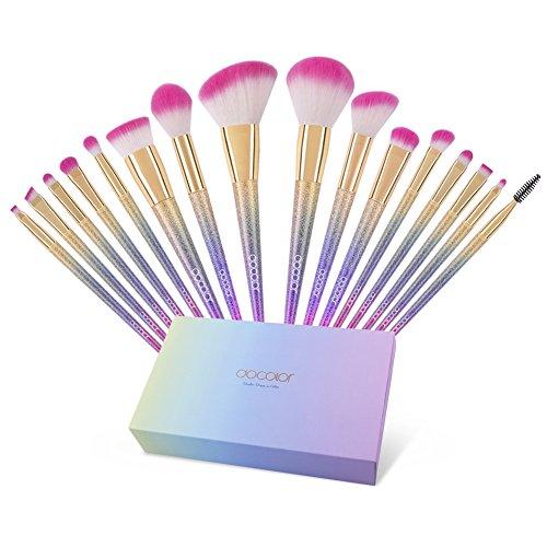 Docolor Makeup Brushes Set 16Pcs Professional Make up Brush Foundation Powder Eyeshadow Brushes by Docolor