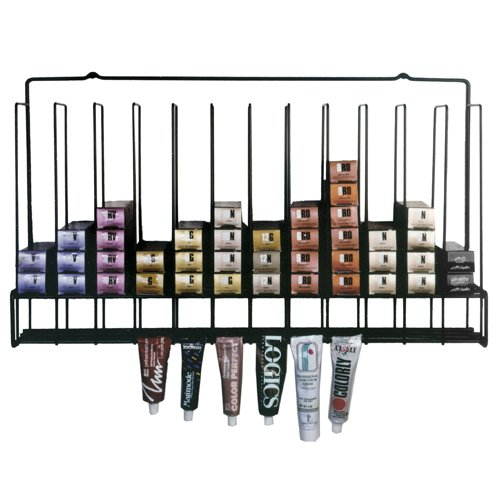 Salon Hair Color Tube Storage Rack