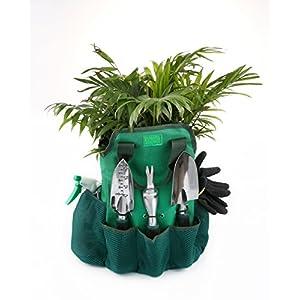 Gardening-Tools-Set13-Piece-Garden-Kit-Includes-6-Hand-Tools-Garden-Storage-Tote-Sprayer-BottleGarden-Gloves-Seeds-BagPlant-LabelsGarden-Tie-and-Calendar-By-Ayuboom