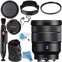 Sony Vario-Tessar T FE 16-35mm f/4 ZA OSS Lens SEL1635Z + 72mm UV Filter + Lens Pen Cleaner + Fibercloth + Lens Capkeeper + Deluxe Cleaning Kit Bundle