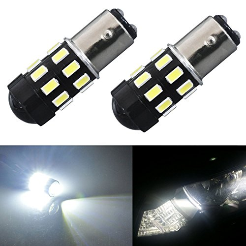 JDM ASTAR 960 Lumens Super Bright 5730 Chipsets 1157 2057 2357 7528 LED Bulbs with Projector,Xenon White