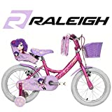 Raleigh Molli Girls' Kids Bike Pink, 10' inch aluminium frame, 1 speed fork hi-tensile steel aluminium v-brake
