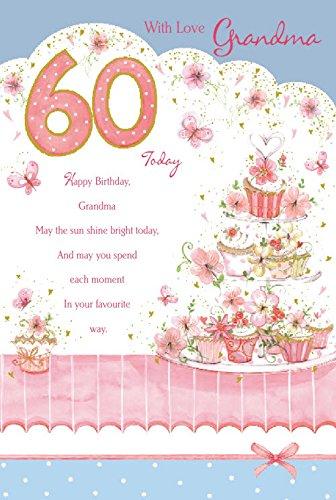 60th Tarjeta de cumpleaños de la abuela: Amazon.es: Hogar