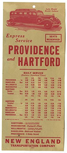Express Service Providence And Hartford Vintage Advertising Flyer Circa 1930S
