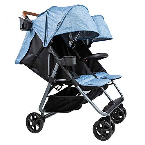Twin+ Luxe (Zoe XL2) – Everyday Twin Stroller – Luxury Double Umbrella Stroller