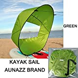 AUNAZZ Downwind Wind Sail Kit 42 inches Kayak Canoe Accessories, Easy Setup & Deploys Quickly, Compact & Portable Green