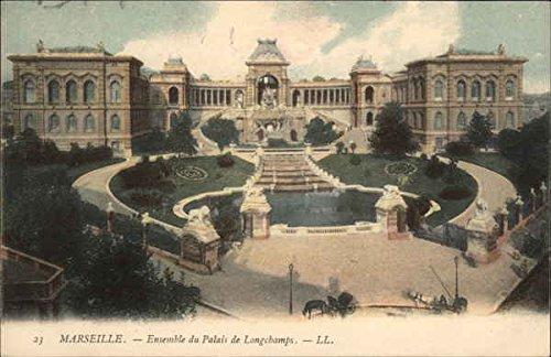 Ensemble du Palais de Longchamps Marseille, France Original Vintage Postcard (Longchamp Vintage)