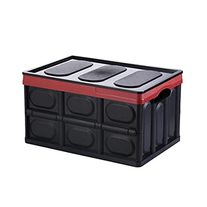 Etonnant Collapsible Storage Bins Durable Large Folding Plastic Stackable Utility  Crates Car Trunk Organizer And Waterproof Storage