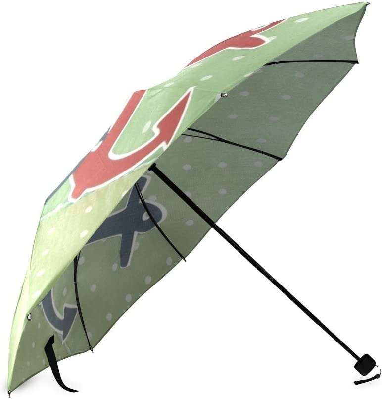 Custom Anchor Compact Travel Windproof Rainproof Foldable Umbrella