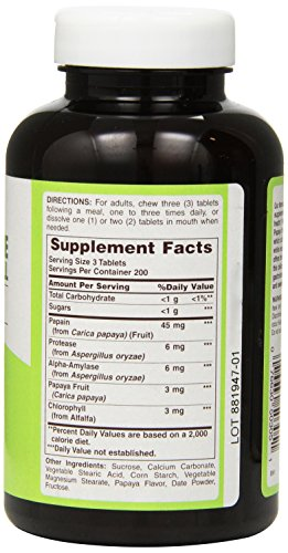 American Health Papaya Enzyme with Chlorophyll Chewable Tablets, 600 Count: Amazon.es: Salud y cuidado personal