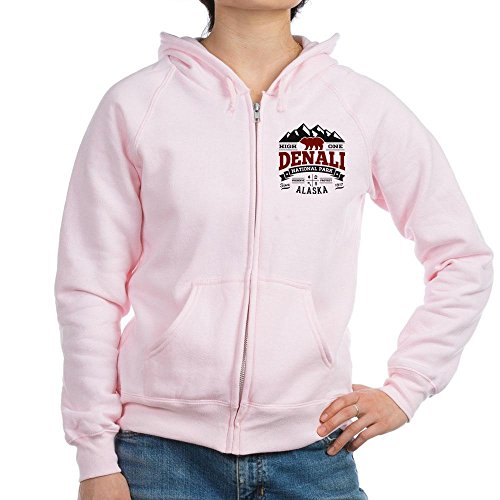 CafePress - Denali Vintage - Womens Zip Hoodie, Classic Hooded Sweatshirt with Metal - Jacket Thermal Womens Denali