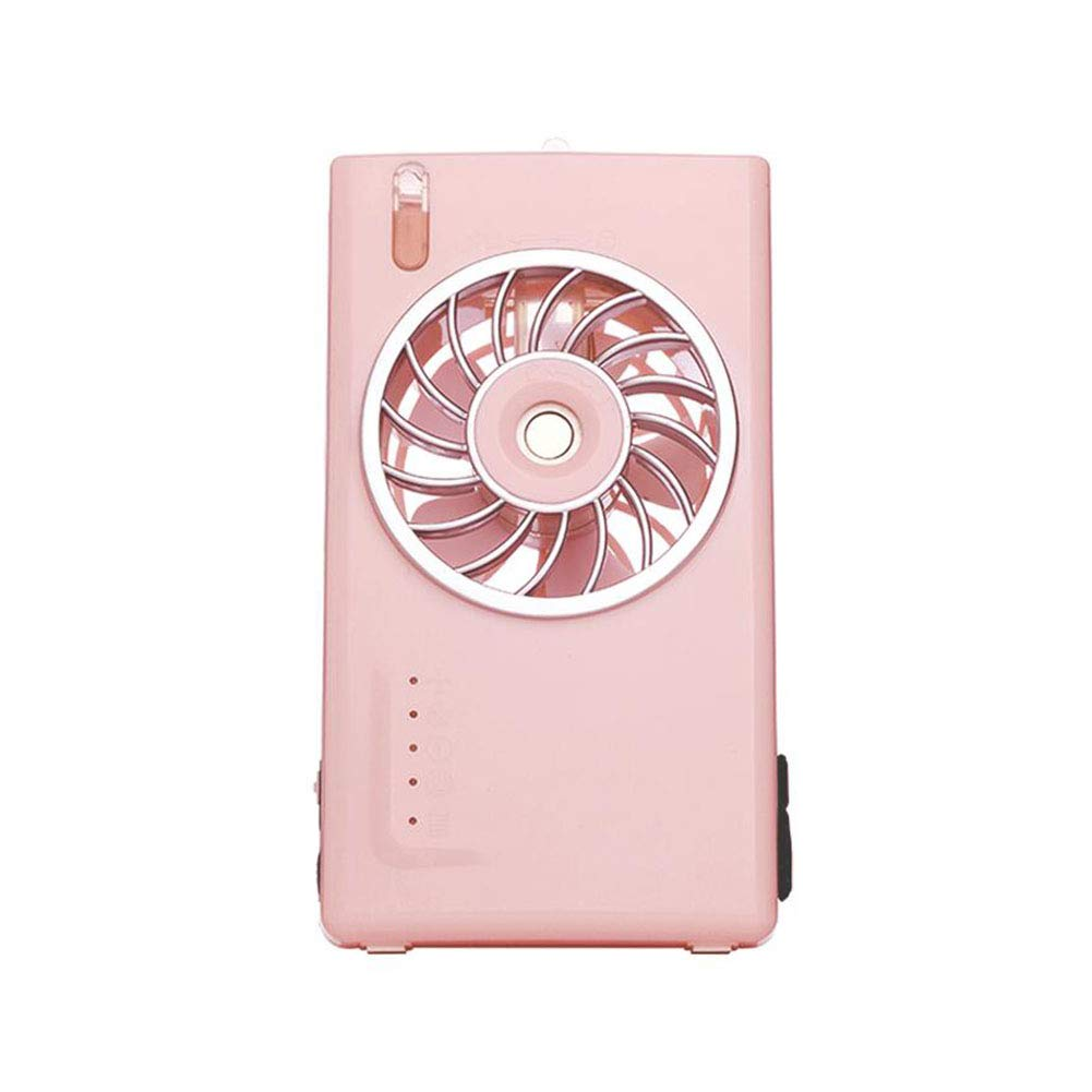 For The Fans Co. CJC Electric Cooling Fan Power Bank Cooling Portable Spray 2 Speed Travel Pocket Desk Box 2000mAh Power Bank Rechargeable Home Office Travel Daily Use