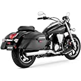 Vance and Hines Twin Slash 2-into-1 Slip-On Exhaust for Yamaha 2009-13 V-Star 9 - One Size