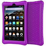 Fire HD 8 2018/2017 Case Cover-TIRIN Light Weight Shock Proof,Skid Proof Soft Silicone Back Cover Case for Amazon Fire HD 8 (2018/2017 Release) Tablet, Purple