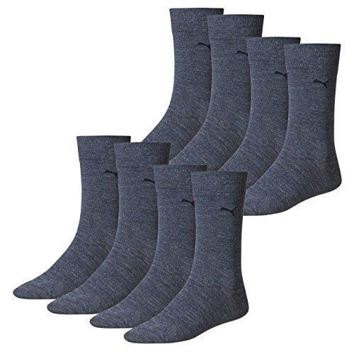 PUMA Herren Casual Socken Classic 8er Pack, Größe:43-46;Farbe:black