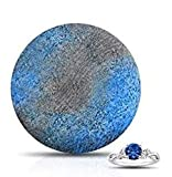 STARRY NIGHTS ~Citrus and Sandalwood~ Deep Blue XL LARGE Bath Bomb 8-9 oz. /Assorted Rings Vary/Gold and Silver 925