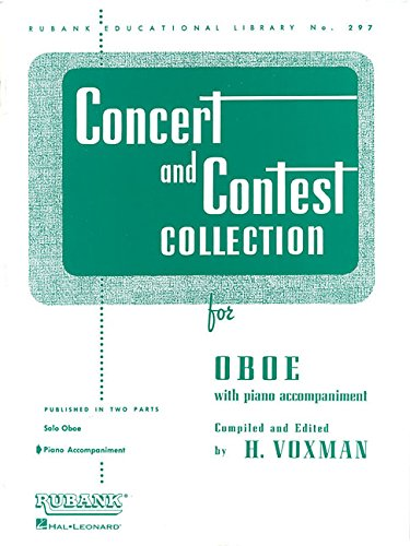Concert and Contest Collection for Oboe: Piano Accompaniment (Rubank Educational Library)