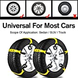 Search : Car Snow Chains Snow Tire Chains for Most Cars Anti-slip Car Chains Car Emergency Chains All Season Anti-skid Snow Cables Car Cables SUV Tire Cables for Emergencies Tire Width: 185-295mm/7-11''