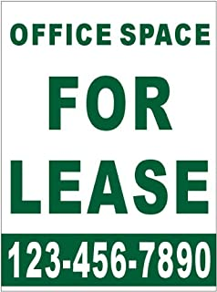 3ftx4ft custom printed office space for lease banner sign with your phone number amazoncom stills office space