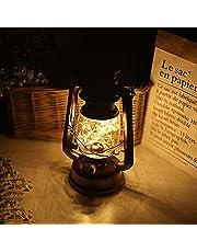 Retro olielamp, LED, stormlamp, werkt op batterijen, nachtlampje, campinglantaarn, woonkamer tuindecoratie, kerstdecoratie