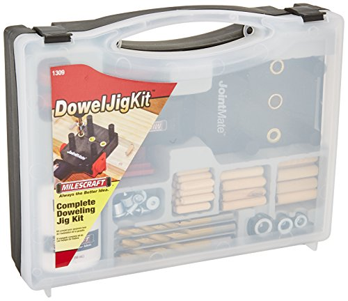 (Milescraft 1309 DowelJigKit - Complete Doweling Kit with Dowel Pins and Bits)