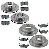 hummer h3 brake pads - Front & Rear Posi Ceramic Brake Pad & Rotor Kit for Hummer H3
