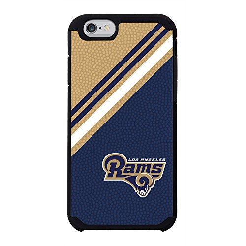 NFL Los Angeles Rams Diagonal Stripes Team color NFL Football One 6 Case, Blue by GameWear