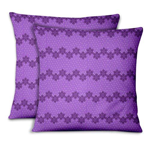 (S4Sassy Purple Velvet Metatron Cube Sofa Cushion Case Home Decorative Square Pillow Cover Throw 2Pcs-22 x 22 Inches)