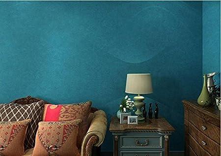 Papier Peint Peinture Murale Couleur Unie Bleu Clair Papier