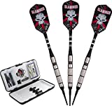 Fat Cat Slammer 80% Tungsten 2-in-1 Soft & Steel Tip Darts with Storage/Travel Case, 16 Grams