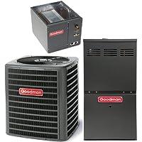 Goodman R410A 13 SEER Complete Split System AC & Gas 3 Ton GSX130361, CAPF3636B6, GMH80604BN