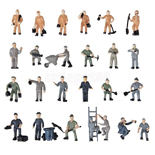 25pc-train-mechanic-people-figure-model-railway-scenery-layout-187-ho-scale