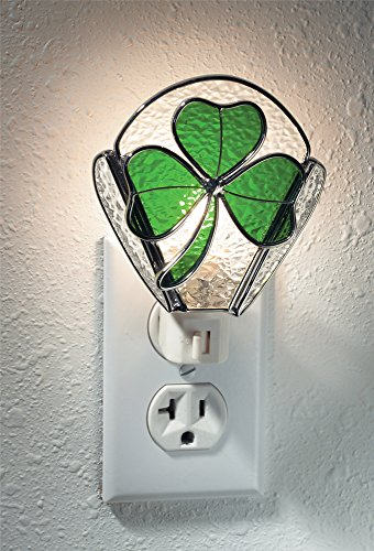 Irish Shamrock Stained Glass Night Light