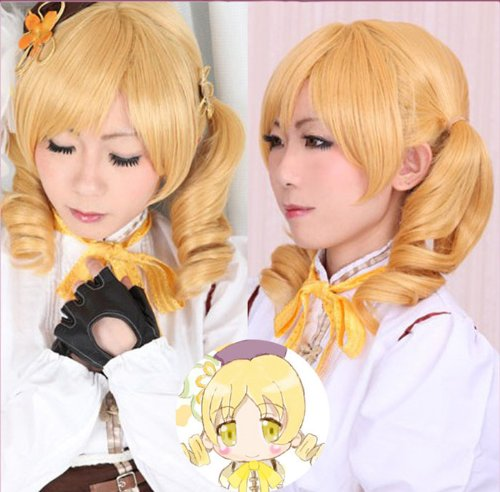 Tomoe Mami Costume (Heat-resistant cosplay wig Magical Girl Madoka Magica Tomoe Mami (Mami) Costume Wig (japan import) by taitatsukokusai)