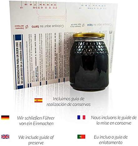 Tarros de Cristal para Miel de 1kg tarros Miel con Cierre ...