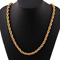 iLH® Clearance Deals Hip Hop Pendant Necklace Men Women Fashion Luxury Filled Curb Cuban Link Gold Necklace Jewelry by ZYooh