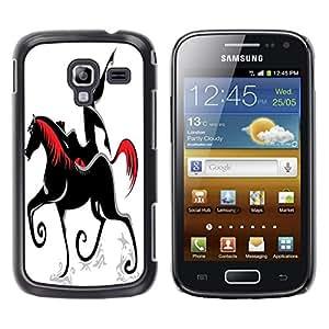 Dragon Case - FOR Samsung Galaxy Ace 2 - Running horse - Caja protectora de pl??stico duro de la cubierta Dise?¡Ào Slim Fit