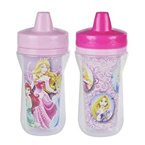 The First Years 2 Pack 9 Ounce Insulated Sippy Cup, Disney Princess
