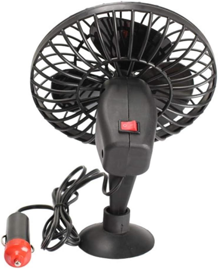 12/24 V Ventilador de Enfriamiento Del Coche Portátil Auto Mini Refrigerador Encendedor de Cigarrillos con Ventosa para Caravanas Negro en calefacción: Amazon.es: Coche y moto