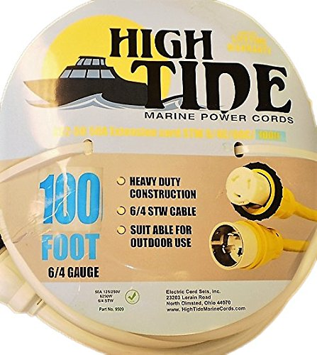 (Marine Shore Power Extension Cord 50 Amp - 100 ft White (9509W))