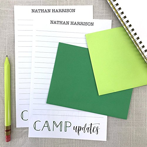 Summer Camp, Kids Personalized Stationery Set, Camp Stationery Letter Sheets, Writing Paper