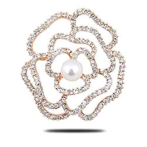 Korean fashion brooch thick high-grade natural freshwater pearl brooch diamond scarf (Diamond Freshwater Brooch)