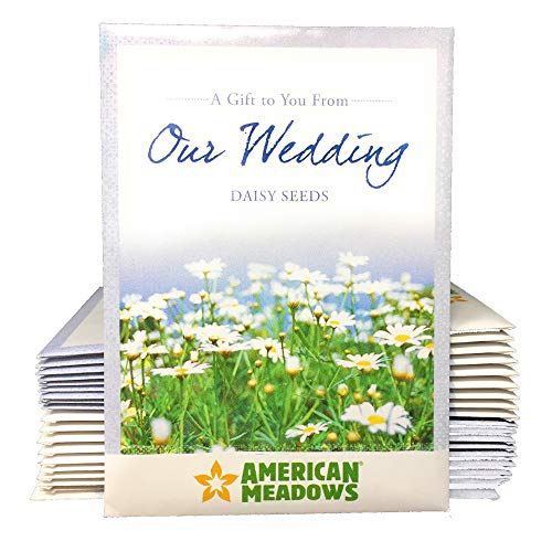 A Gift to You from Our Wedding – Daisy Flower Seed Packet Favors – Pack of 20