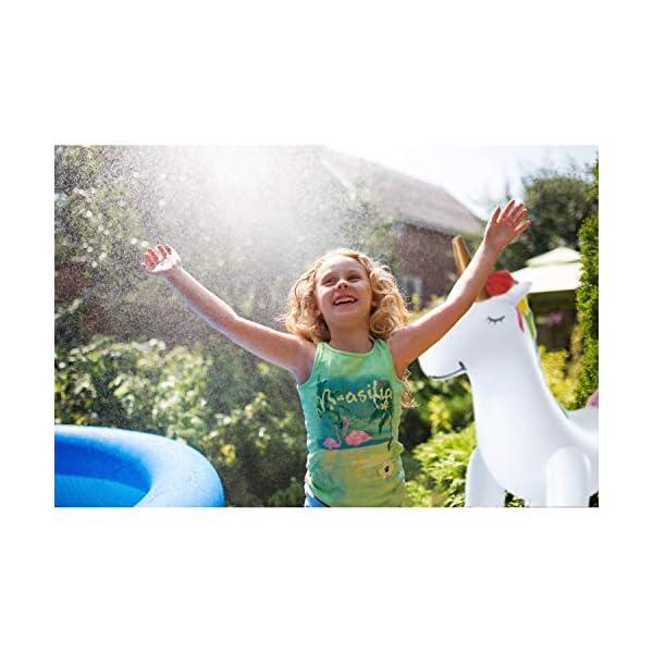 XGEAR Large Inflatable Unicorn Yard Sprinklers, Outdoor Sprinkle and Splash Play,Lawn Sprinkler, Summer Inflatable Water… 8