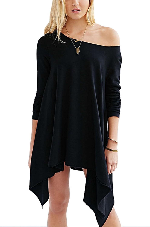 Summerwhisper Women's Asymmetrical Off Shoulder T-Shirt