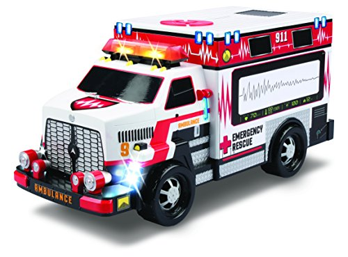 Kid Galaxy Motorized Ambulance Truck, -