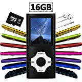 Wyne Technology Versatile & Portable 16GB Mini MP3 MP4 with Micro SD Card Music Player Sound Entry Hi-Fi Media Player Video Player FM Radio E-book Viewer Photo Viewer Voice Recorder (Black)